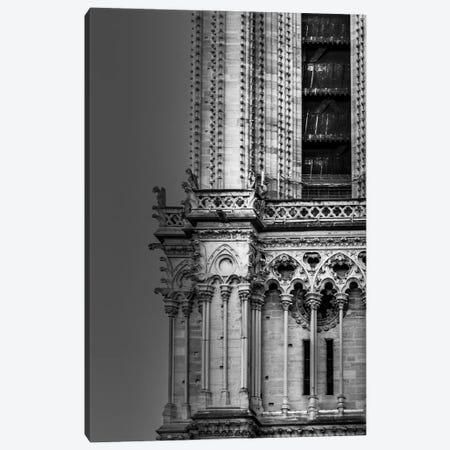 Paris In Black And White Notre-Dame Detail Canvas Print #VNC365} by Alexandre Venancio Canvas Wall Art