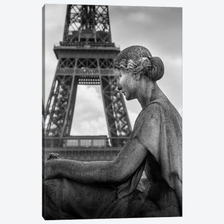 Paris In Black And White Eifeil Tour Canvas Print #VNC366} by Alexandre Venancio Canvas Artwork