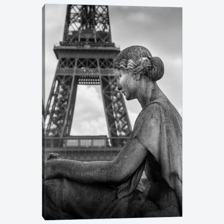 Paris In Black And White Eifeil Tour Canvas Print #VNC366} by Alexandre Venancio Canvas Artwork