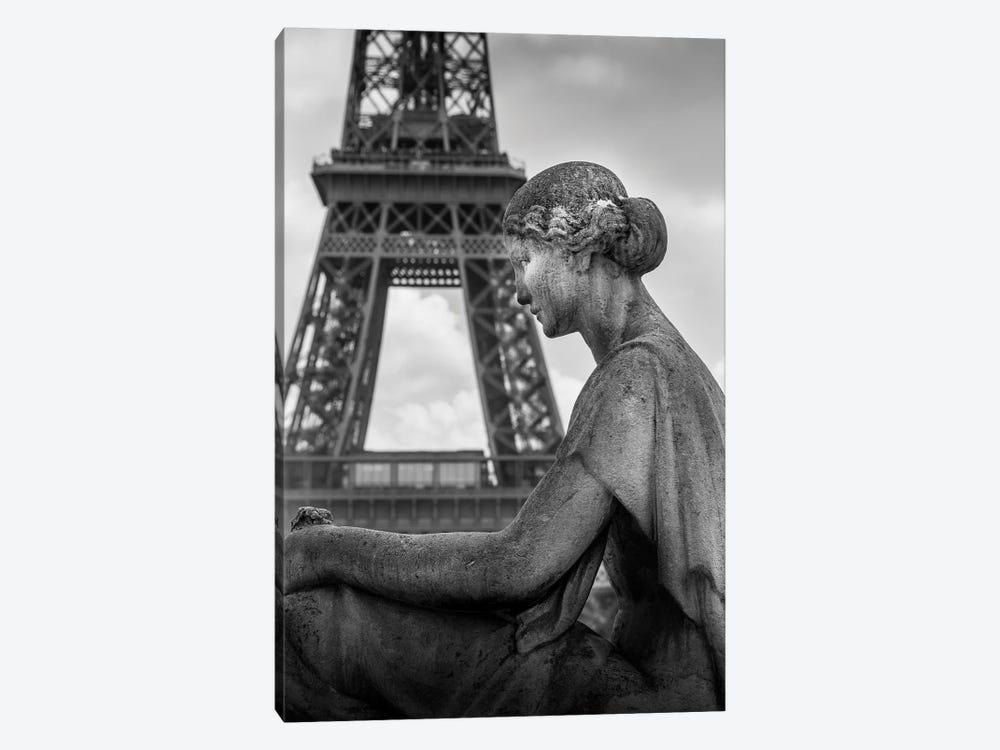 Paris In Black And White Eifeil Tour by Alexandre Venancio 1-piece Canvas Print