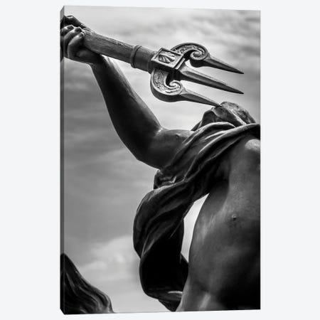 Paris In Black And White Sculpture Detail Canvas Print #VNC368} by Alexandre Venancio Canvas Art Print