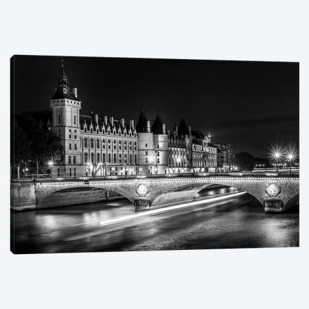 Paris In Black And White Conciergerie Canvas Print #VNC370} by Alexandre Venancio Canvas Artwork