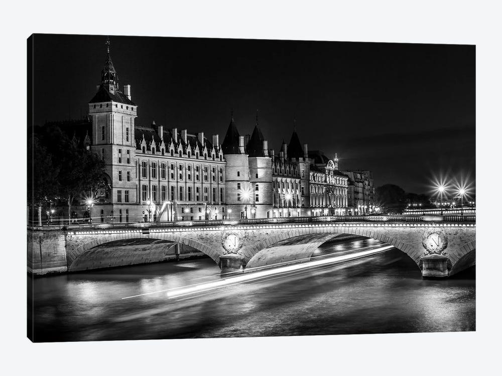 Paris In Black And White Conciergerie by Alexandre Venancio 1-piece Canvas Wall Art