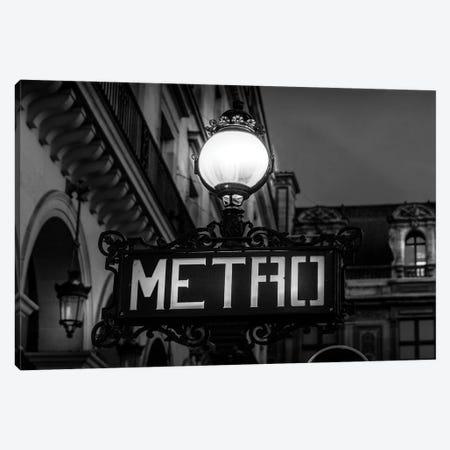 Paris In Black And White Metro Canvas Print #VNC371} by Alexandre Venancio Canvas Artwork