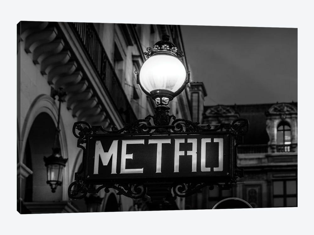 Paris In Black And White Metro by Alexandre Venancio 1-piece Canvas Art Print