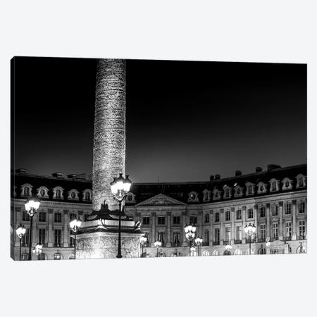 Paris In Black And White Place Vendome Canvas Print #VNC372} by Alexandre Venancio Canvas Artwork