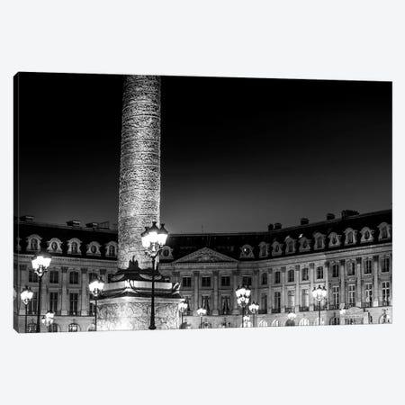 Paris In Black And White Place Vendome Canvas Print #VNC372} by Alexandre Venancio Canvas Artwork