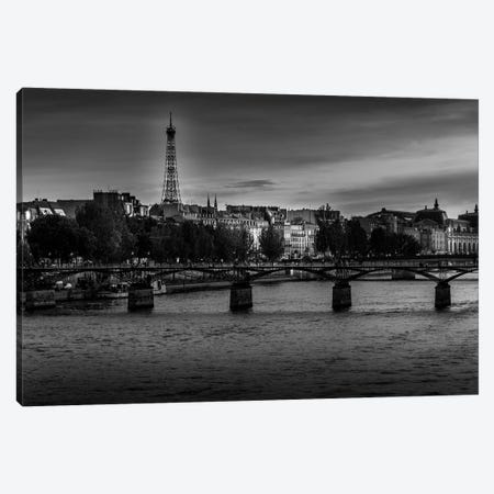 Paris In Black And White Sena Canvas Print #VNC373} by Alexandre Venancio Canvas Wall Art