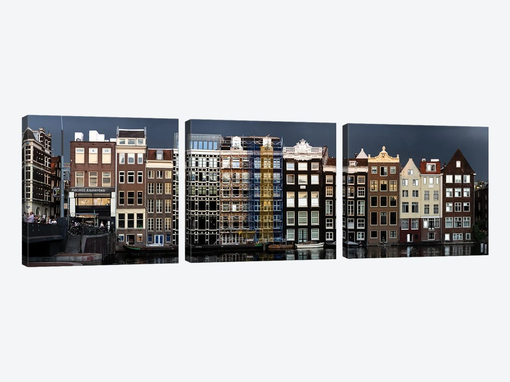 Amsterdam Lovely Old Town by Alexandre Venancio 3-piece Canvas Print