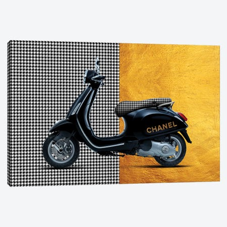 Vespa Chanel Canvas Print #VNC37} by Alexandre Venancio Canvas Art Print