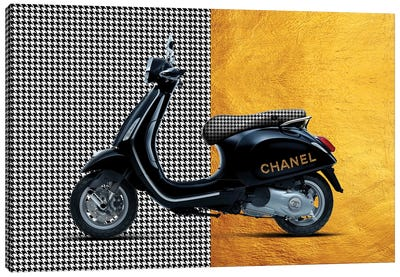Vespa Chanel Canvas Art Print