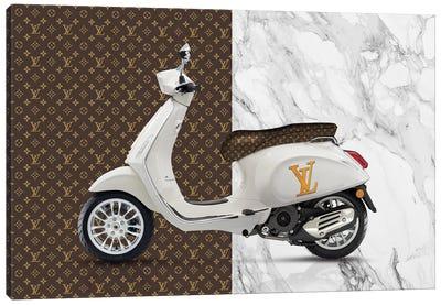Vespa Louis Vuitton Canvas Art Print