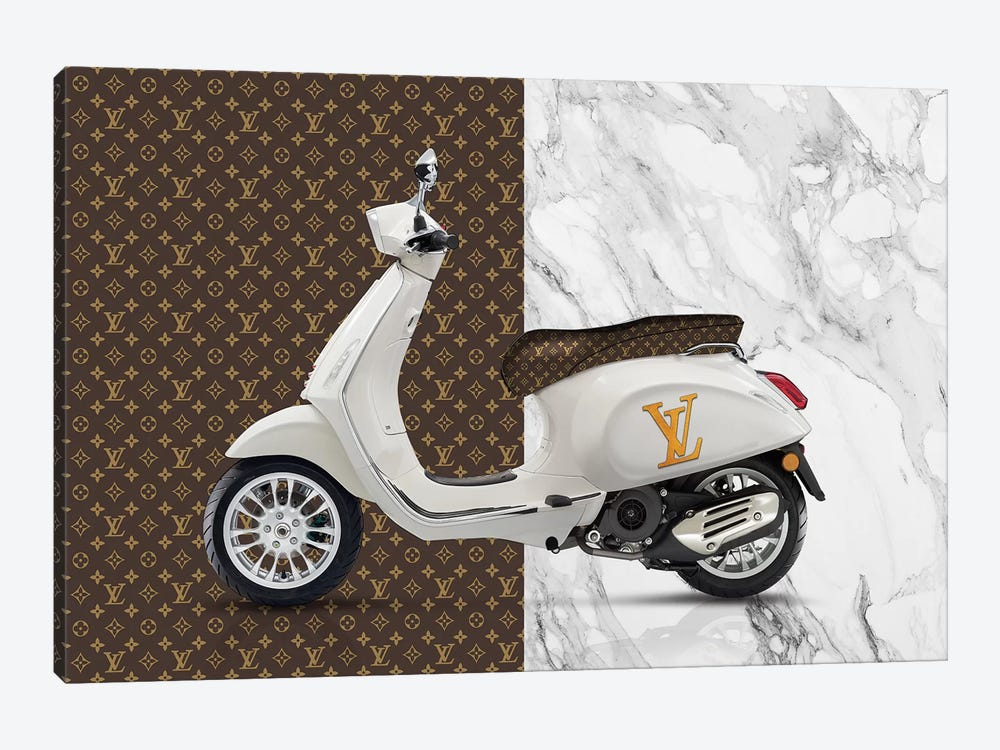 Vespa Louis Vuitton Canvas Art By Alexandre Venancio Icanvas
