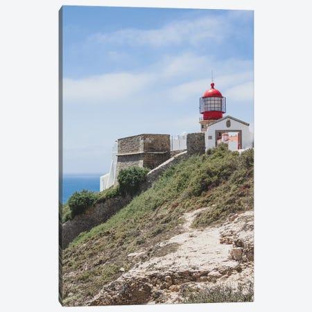 Portugal Red Lighthouse Canvas Print #VNC417} by Alexandre Venancio Canvas Artwork