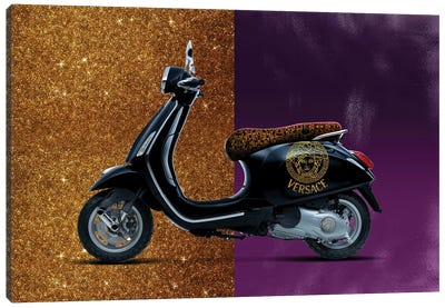 Vespa Versace Canvas Art Print