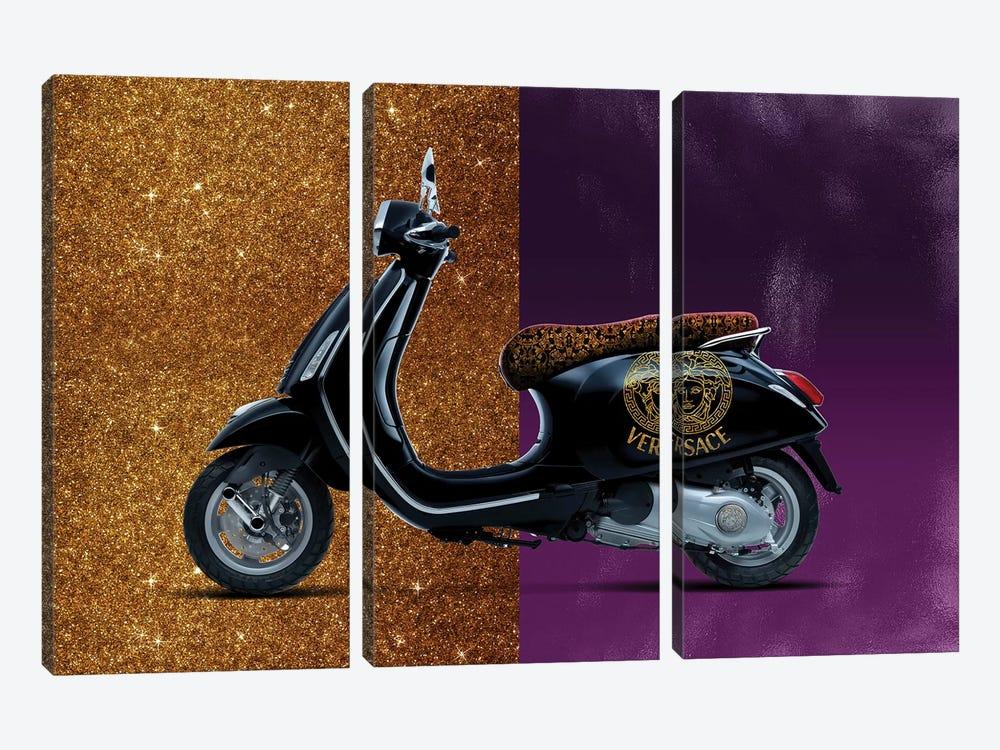 Vespa Versace by Alexandre Venancio 3-piece Art Print