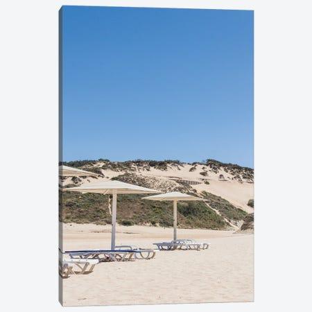 Portugal Beach Chairs Canvas Print #VNC466} by Alexandre Venancio Canvas Art Print