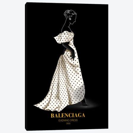 Evening Dress, Balenciaga, 1952 Canvas Print #VNC47} by Alexandre Venancio Canvas Art