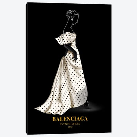 Evening Dress, Balenciaga, 1952 Canvas Print #VNC47} by Alexandre Venancio Canvas Art