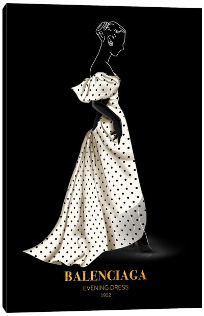 Evening Dress, Balenciaga, 1952 Canvas Art Print