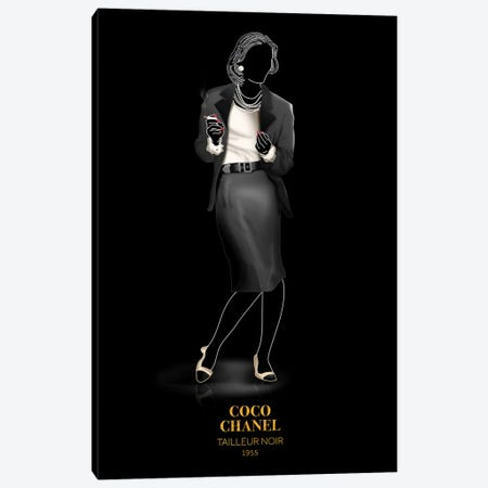 Tailleur Noir, Chanel, 1955 Canvas Print #VNC48} by Alexandre Venancio Canvas Print