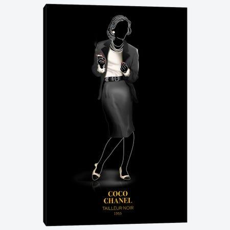 Tailleur Noir, Chanel, 1955 Canvas Print #VNC48} by Alexandre Venancio Canvas Print