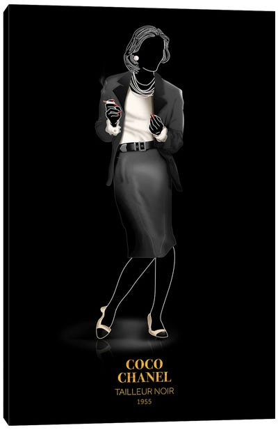 Tailleur Noir, Chanel, 1955 Canvas Art Print