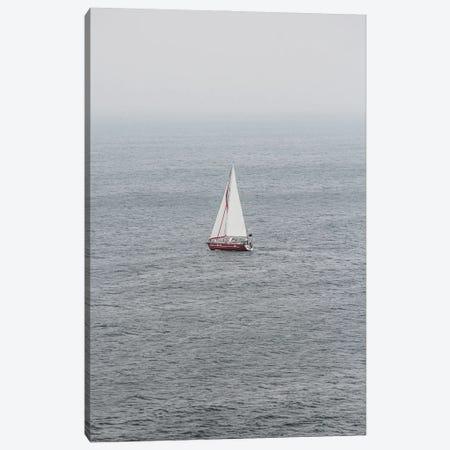Portugal Lonely Boat Canvas Print #VNC492} by Alexandre Venancio Canvas Art Print
