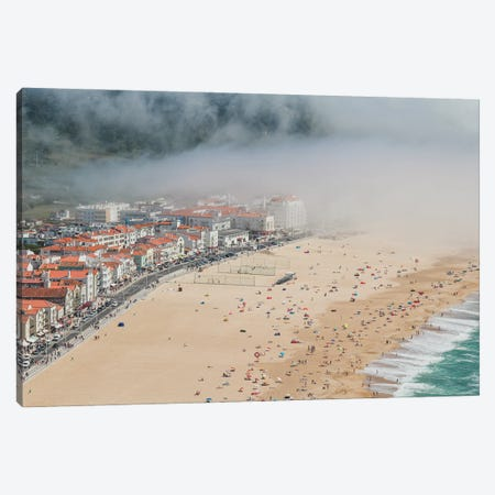 Portugal, Fog In Nazaré II Canvas Print #VNC495} by Alexandre Venancio Canvas Artwork