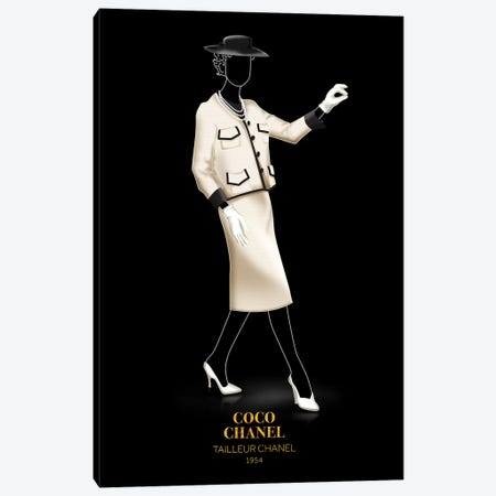 Tailleur Chanel, Chanel, 1954 Canvas Print #VNC49} by Alexandre Venancio Canvas Print