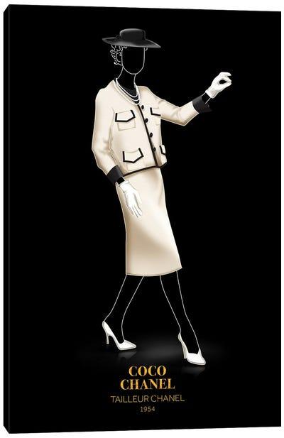 Tailleur Chanel, Chanel, 1954 Canvas Art Print