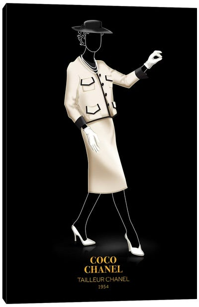 Tailleur Chanel, Chanel, 1954 Canvas Art Print