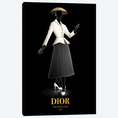 The New Look, Christian Dior, 1947 Canvas Print #VNC50} by Alexandre Venancio Canvas Art