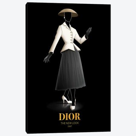 The New Look, Christian Dior, 1947 Canvas Print #VNC50} by Alexandre Venancio Canvas Art