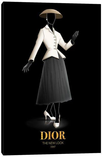 The New Look, Christian Dior, 1947 Canvas Art Print