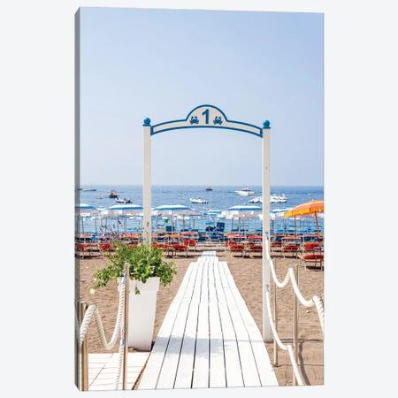 Amalfi Coast Beach Canvas Print #VNC528} by Alexandre Venancio Canvas Print