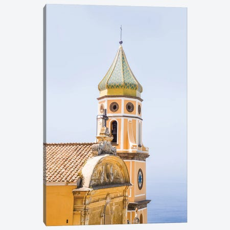 Amalfi Coast Church Detail Canvas Print #VNC531} by Alexandre Venancio Canvas Artwork