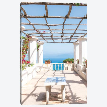 Amalfi Coast View, Italy Canvas Print #VNC535} by Alexandre Venancio Canvas Art Print