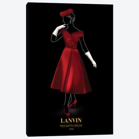 Red Satin Dress, Lanvin, 1956 Canvas Print #VNC53} by Alexandre Venancio Canvas Artwork