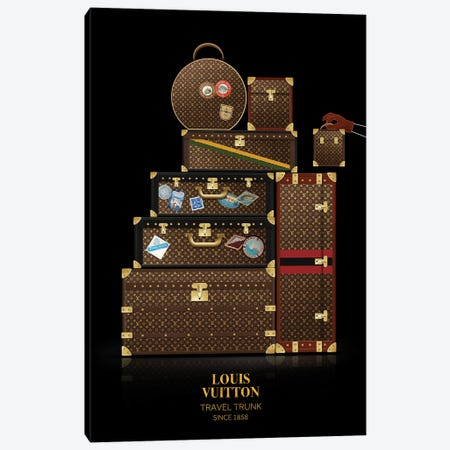 Travel Trunk, Louis Vuitton, Since 1858 Canvas Print #VNC54} by Alexandre Venancio Canvas Art Print