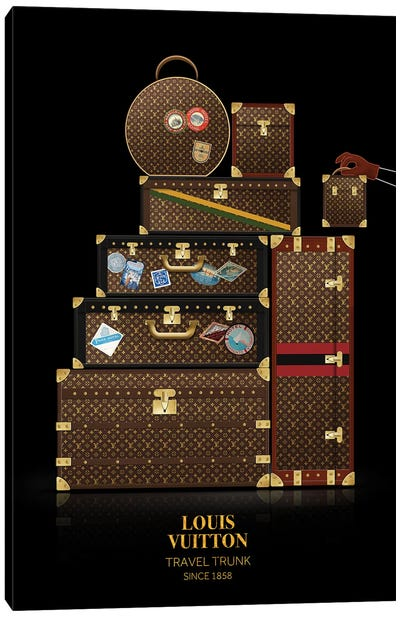Travel Trunk, Louis Vuitton, Since 1858 Canvas Art Print