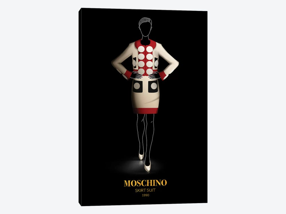 Skirt Suit, Moschino, 1990 by Alexandre Venancio 1-piece Canvas Art