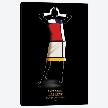 Mondrian Dress, Yves Saint Laurent, 1966 Canvas Print #VNC56} by Alexandre Venancio Art Print