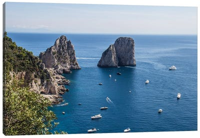 Capri View Canvas Art Print