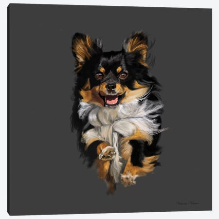 Chihuahua On The Run 3-Piece Canvas #VNE23} by Vicki Newton Art Print