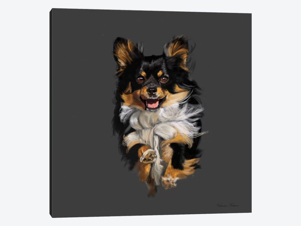 Chihuahua On The Run by Vicki Newton 1-piece Art Print