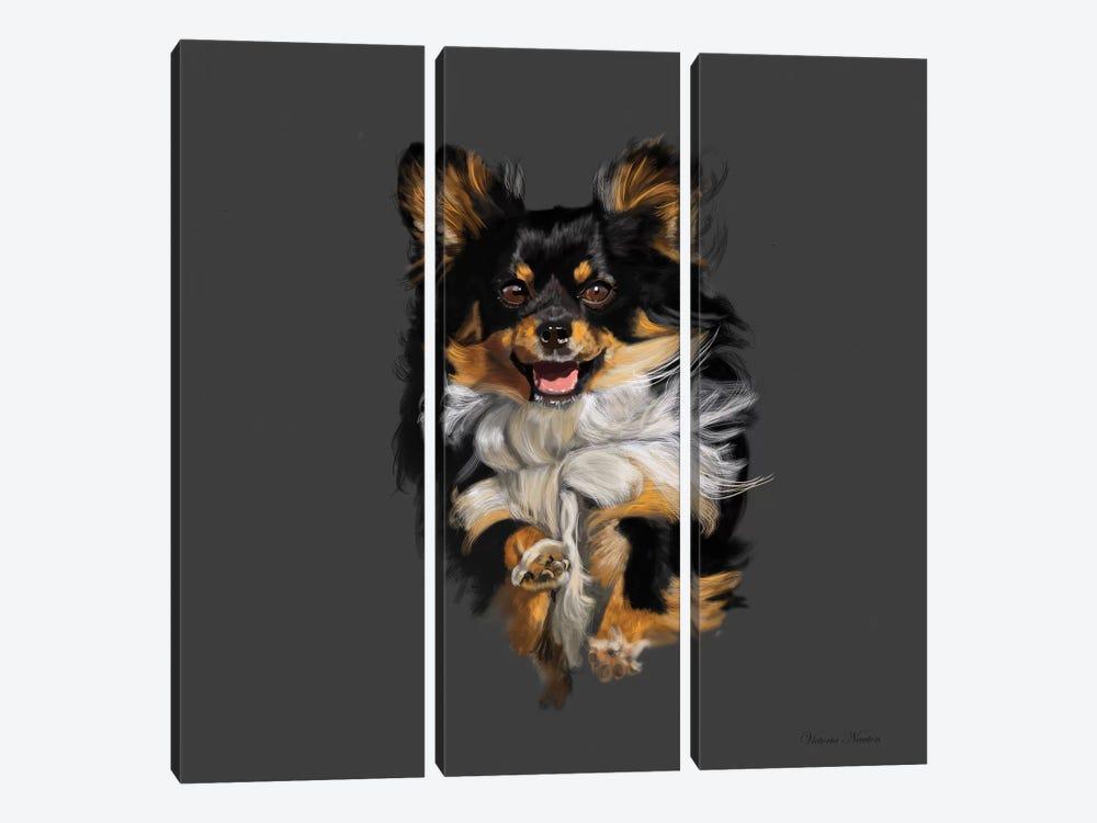 Chihuahua On The Run by Vicki Newton 3-piece Art Print