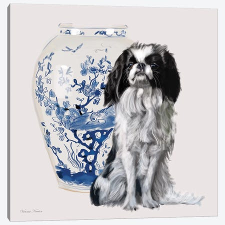 Chin Canvas Print #VNE24} by Vicki Newton Canvas Wall Art