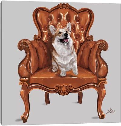 Corgi Chair Canvas Art Print