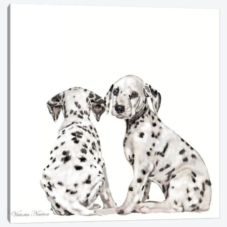 Dalmations Canvas Print #VNE31} by Vicki Newton Canvas Wall Art
